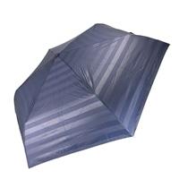 雨晴兼用 完全遮光 超撥水自動開閉折傘 55cm ボーダーネイビー
