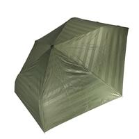 晴雨兼用 完全遮光 超撥水自動開閉折傘 55cm ボーダーカーキ