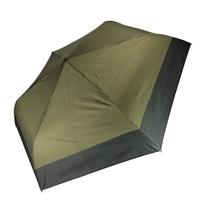 雨晴兼用 完全遮光 超撥水自動開閉折傘 55cm カーキ×ブラック
