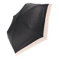 【店舗取り置き限定】雨晴兼用 完全遮光 3段折傘 50cm グログラン ブラック