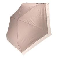 雨晴兼用 完全遮光 3段折傘 50cm グログラン グレージュ
