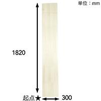 【SU】ファルカタ集成材 1820×300×13mm【別送品】