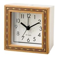 【trv・数量限定】置き時計 カギオラ スウィープムーヴ CL−2557WH