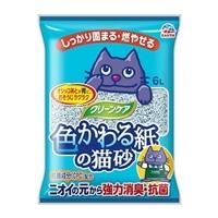 猫砂 カインズ限定 クリーンケア 色かわる紙の猫砂 6L