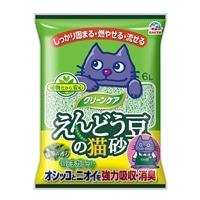 猫砂 カインズ限定 クリーンケア えんどう豆の猫砂 緑茶の香り 6L