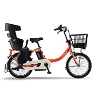 【自転車】《ヤマハ》20年モデル 電動アシスト自転車 PAS Babby un SP パス バビー アン スーパー リヤチャイルドシート標準装備 コーラルレッド