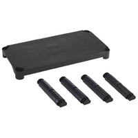 【CAINZ DASH】TRUSCO プラ棚用 棚板セット 4段用 黒