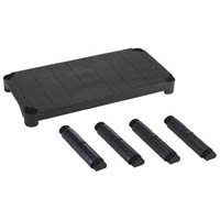 【CAINZ DASH】TRUSCO プラ棚用 棚板セット 5段用 黒