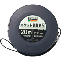 【CAINZ DASH】TRUSCO ポケット鋼製巻尺 スチール 20m
