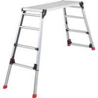 【CAINZ DASH】TRUSCO 足場台 アルミ製 脚部伸縮タイプ 高さ0.87〜1.18m