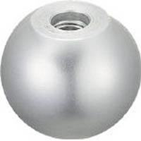【CAINZ DASH】TRUSCO アルミ製握り玉 芯金なし Φ32XM8mm