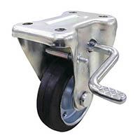 【CAINZ DASH】ユーエイ 産業用キャスターS付固定車 130径ゴム車輪