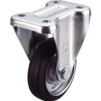 【CAINZ DASH】ユーエイ 産業用キャスター固定車 75径ゴム車輪