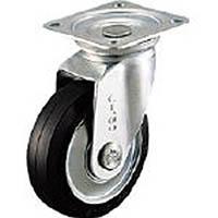 【CAINZ DASH】シシク スタンダードプレスキャスター ゴム車輪 自在 75径