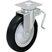【CAINZ DASH】スガツネ工業 重量用キャスター径127自在ブレーキ付D(200−133−470)