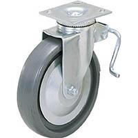 【CAINZ DASH】スガツネ工業 重量用キャスター径127自在ブレーキ付SE(200−139−504