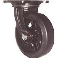 【CAINZ DASH】ヨドノ 鋳物重量用キャスター 許容荷重338.1 取付穴径13mm