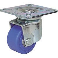 【CAINZ DASH】シシク 低床重荷重用キャスター 自在 65径 MC車輪 三価クロメート