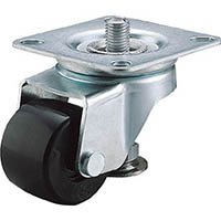 【CAINZ DASH】ユーエイ アジャスターフット付自在キャスター 50径強化ナイロン車輪