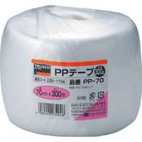 【CAINZ DASH】TRUSCO PPテープ 幅70mmX長さ300m 白