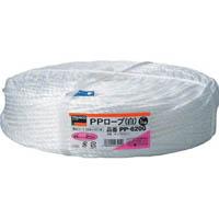【CAINZ DASH】TRUSCO PPロープ 幅6mmX長さ200m 白