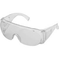 【CAINZ DASH】TRUSCO 一眼ラウンド型防塵メガネ透明 透明