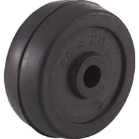 【CAINZ DASH】TRUSCO 二輪運搬車用車輪 Φ50ゴム車輪 4011用補助車輪