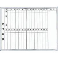 【CAINZ DASH】TRUSCO スチール製ホワイトボード 月予定表・縦 600X900
