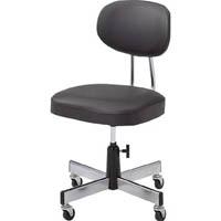 【CAINZ DASH】TRUSCO 事務椅子 ビニールレザー張り ブラック