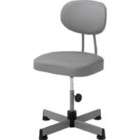 【CAINZ DASH】TRUSCO 事務椅子 ビニールレザー張り キャスター無 グレー