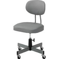 【CAINZ DASH】TRUSCO 事務椅子 ビニールレザー張り グレー
