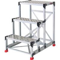 【CAINZ DASH】TRUSCO 作業用踏台 アルミ製・縞板タイプ 天板寸法600X400XH900