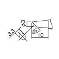 【CAINZ DASH】白光 こて先 3BC型(Z) 面のみ