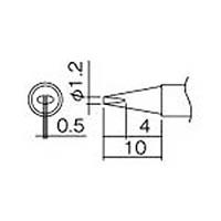 【CAINZ DASH】白光 こて先 1.2D型(Z)