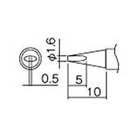 【CAINZ DASH】白光 こて先 1.6D型(Z)