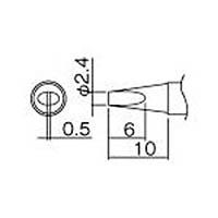 【CAINZ DASH】白光 こて先 2.4D型(Z)