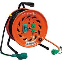 【CAINZ DASH】日動 電工ドラム びっくリール 100V アース漏電しゃ断器付 30m