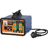 【CAINZ DASH】日動 変圧器 降圧専用セットコンセントトラパック アース過負荷漏電しゃ断器付