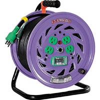 【CAINZ DASH】日動 電工ドラム 標準型100Vドラム アース漏電しゃ断器付 30m