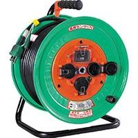 【CAINZ DASH】日動 電工ドラム 防雨防塵型100Vドラム アース漏電しゃ断器付 30m