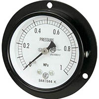 【CAINZ DASH】長野 普通形圧力計 D枠埋込型 Φ60最小目盛0.005