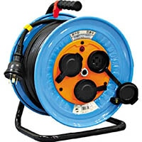 【CAINZ DASH】日動 電工ドラム 防雨防塵型三相200V アース付 30m