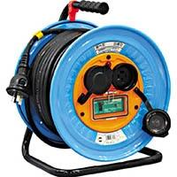 【CAINZ DASH】日動 電工ドラム 防雨防塵型三相200V アース漏電しゃ断器付 30m
