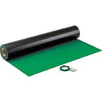 【CAINZ DASH】HOZAN 導電性カラーマット 1×10M グリーン 補強繊維入り