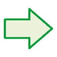 【CAINZ DASH】ユニット 蓄光矢印ステッカー(緑枠) 100×120mm 合成樹脂
