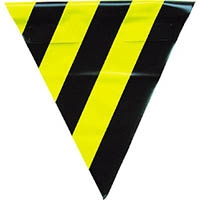 【CAINZ DASH】ユタカメイク 安全表示旗(着脱簡単・トラ模様)