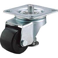 【CAINZ DASH】ユーエイ アジャスターフット付自在キャスター 65径強化ナイロン車輪
