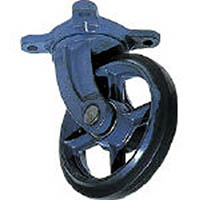 【CAINZ DASH】京町 鋳物製自在金具付ゴム車輪200MM