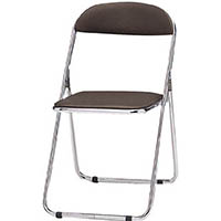 【CAINZ DASH】TOKIO パイプ椅子 シリンダ機能付 スチールメッキパイプ ブラウン