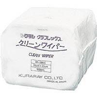 【CAINZ DASH】クラレ クラクリーンワイパー25cm×25cm100枚×30袋/Cs(箱)3000枚